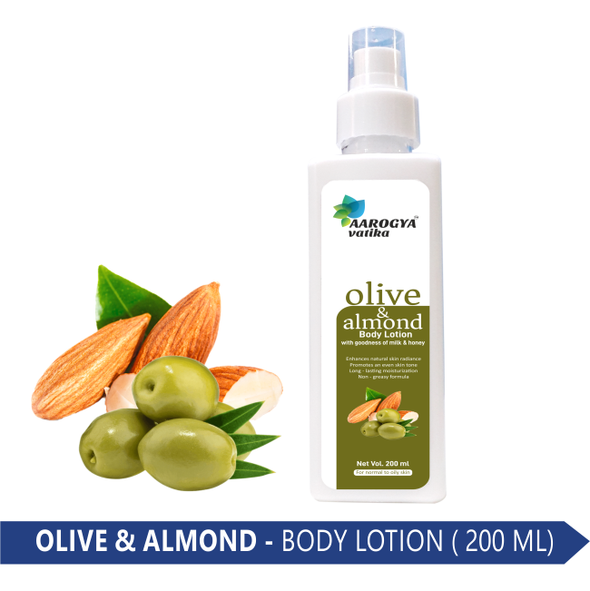 OLIVE & ALMOND BODY LOTION (200 ML.)