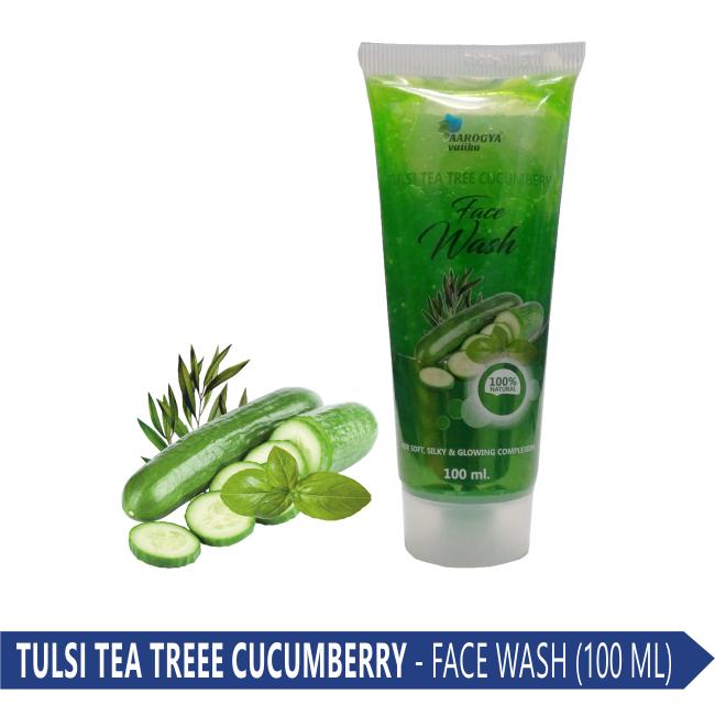 FACE WASH (TULSI TEA TREE CUCUMBERRY) 100 ML.