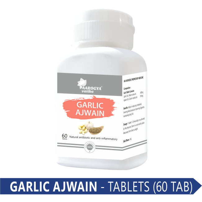 GARLIC AJWAIN TABLET (60 PCS)