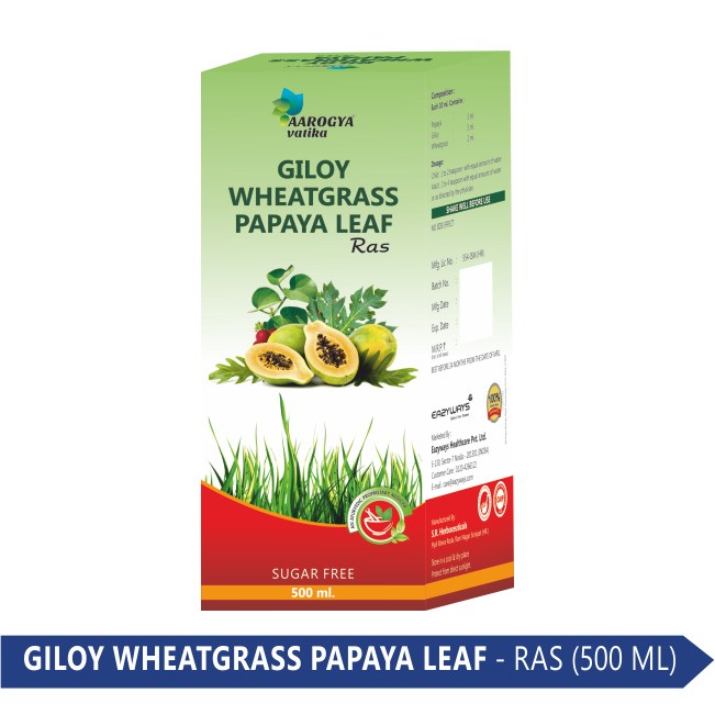 GILOY PAPYA WHEAT GRASS (500ML)