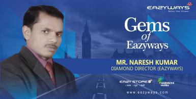 Gems of Eazyways :Income testimonial by Diamond director Mr.Naresh Ji